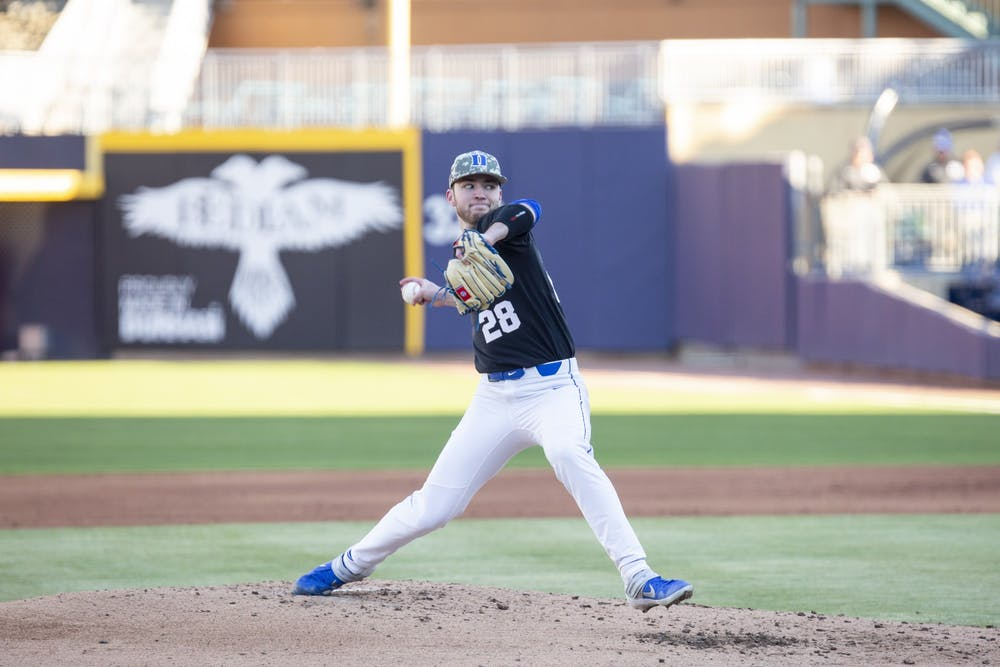 <p>Bryce Jarvis' seven innings of one-hit ball powered Duke to victory Friday.</p>