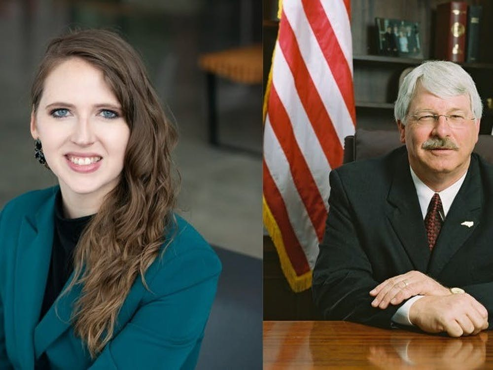 <p>Democrat Jenna Wadsworth (left) and incumbent Republican Steve Troxler (right) are the candidates for N.C. Commissioner of Agriculture.</p>