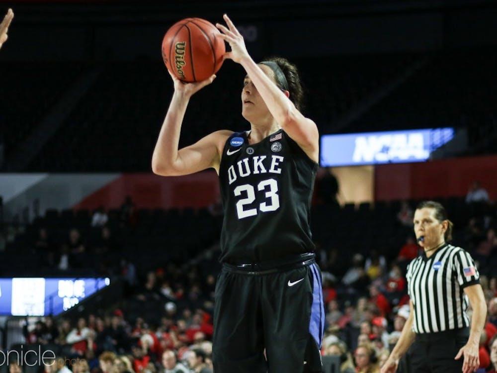 Rebecca Greenwell helped lead Duke to a deep run in the NCAA Tournament.