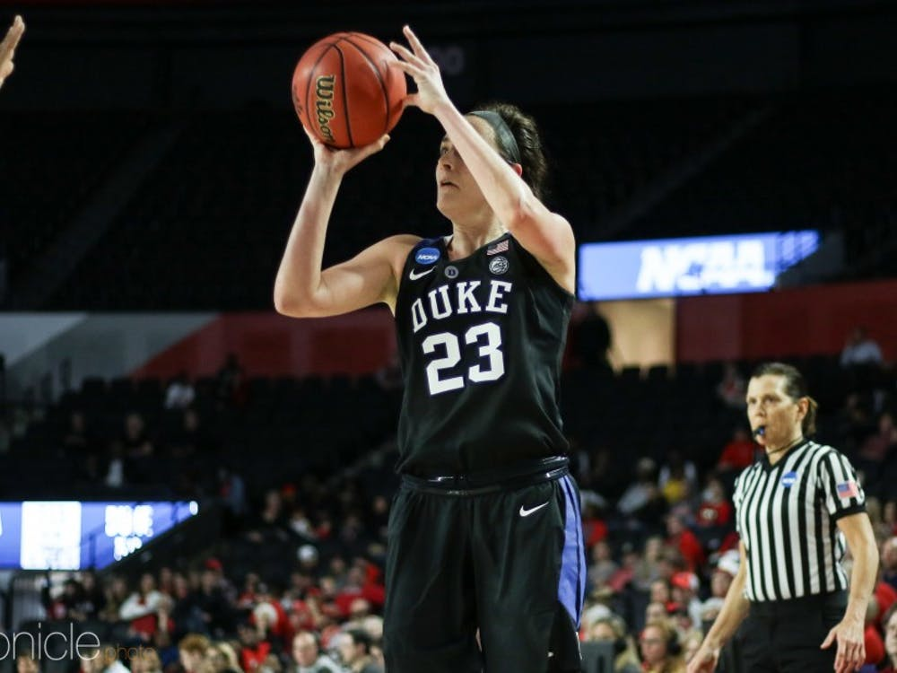 Rebecca Greenwell helped lead Duke to a deep run in the NCAA Tournament.