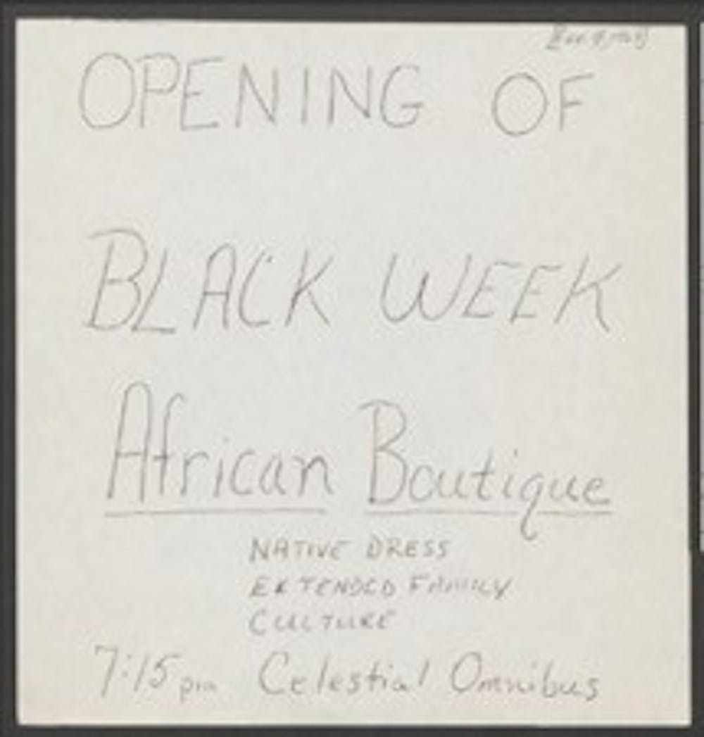 A flyer for a Black Week event. Courtesy of Duke Archives.
