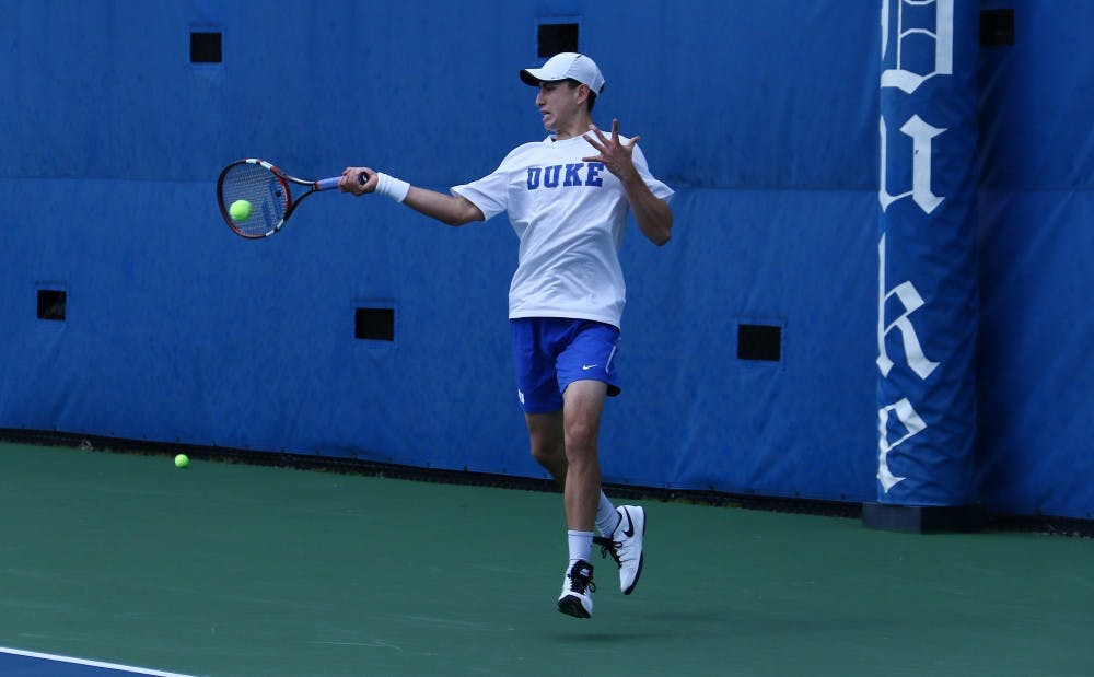 <p>Nicolas Alvarez struggled to find his footing against an aggressive opponent, losing his first competitive match in more than a month in straight sets.</p>