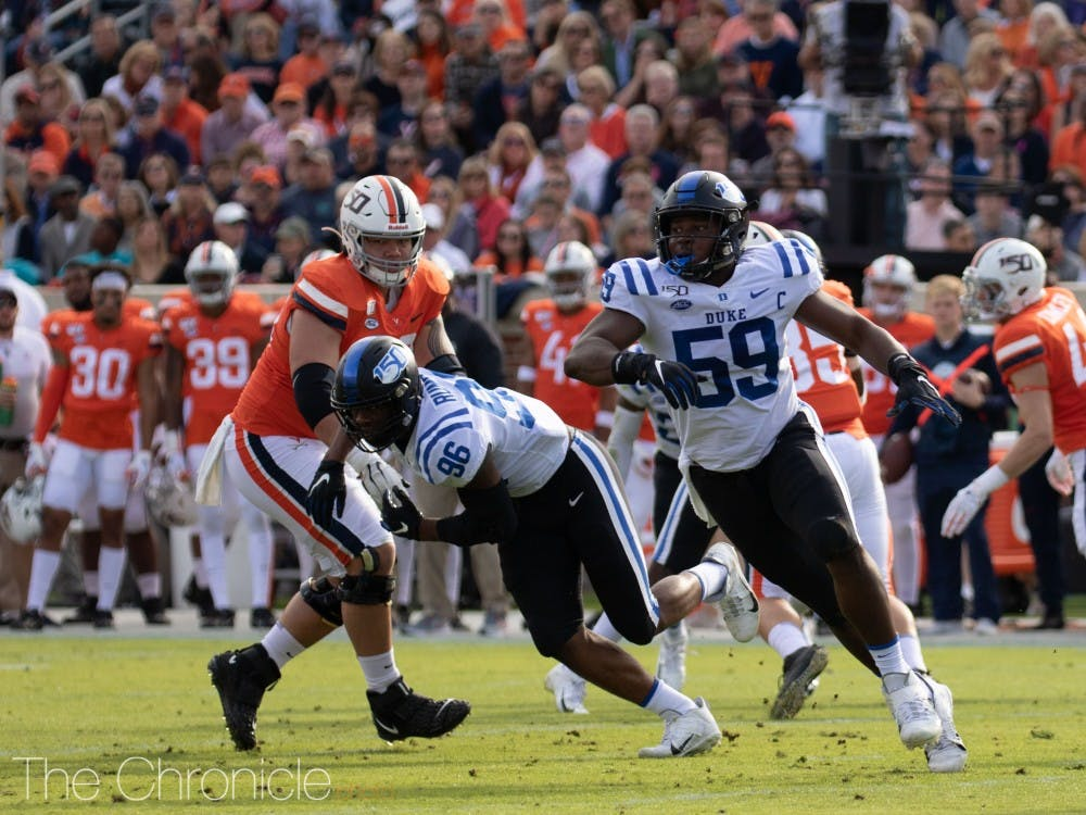 <p>Duke's defensive line was steady in an otherwise subpar first half.</p>