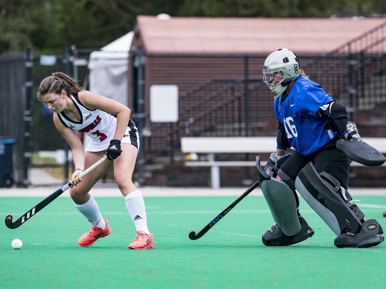 Duke goalkeeper Piper Hampsch recorded nine saves against Princeton.