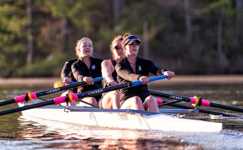 Four of Duke's five boats beat Michigan State Saturday morning.
