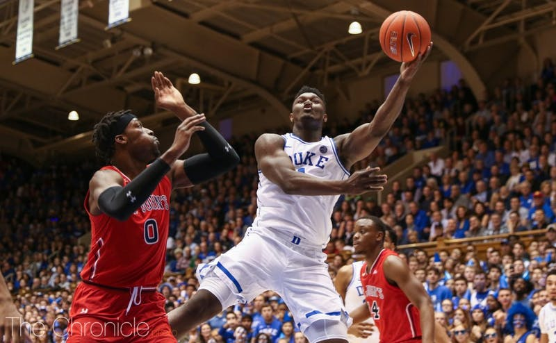 Zion Williamson quickly got into double-digits Saturday.