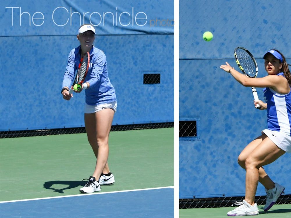 Ellyse Hamlin and Samantha Harris found a rhythm playing doubles together for the first time last weekend.