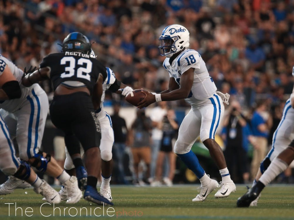 Quentin Harris exploded for 237 passing yards, 107 rushing yards and four touchdowns this past Saturday