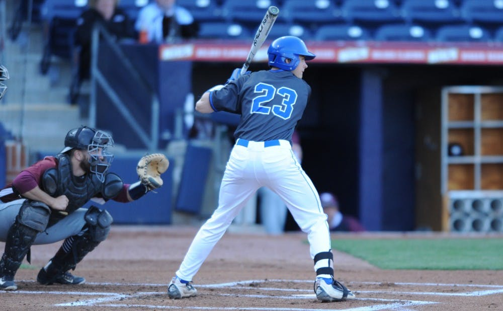 <p>Freshman Chris Proctor went 2-for-3 at the plate and drove in two runs against N.C. Central as Duke picked up its third consecutive victory.&nbsp;</p>