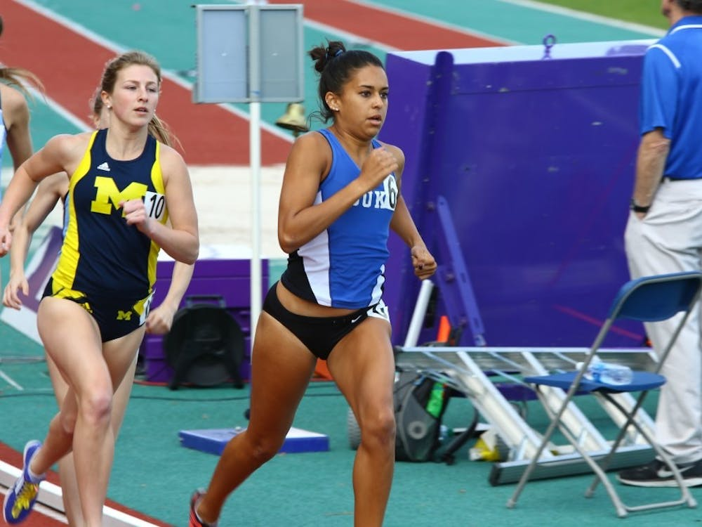 Anima Banks finished sixth in the 800 meterswith her third-fastest time in the event.