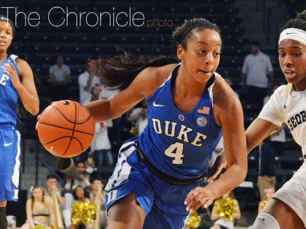 Lexie Brown kickstarted Duke's offense with 13 first-quarter points and finished with 25 to lead all scorers.