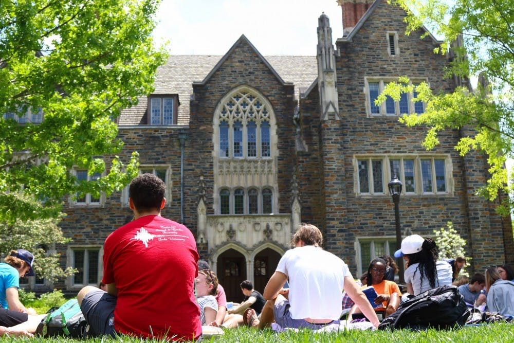 <p>Students held a study-in at the Allen Building on Saturday afternoon to demand a University policy against hate speech.</p>