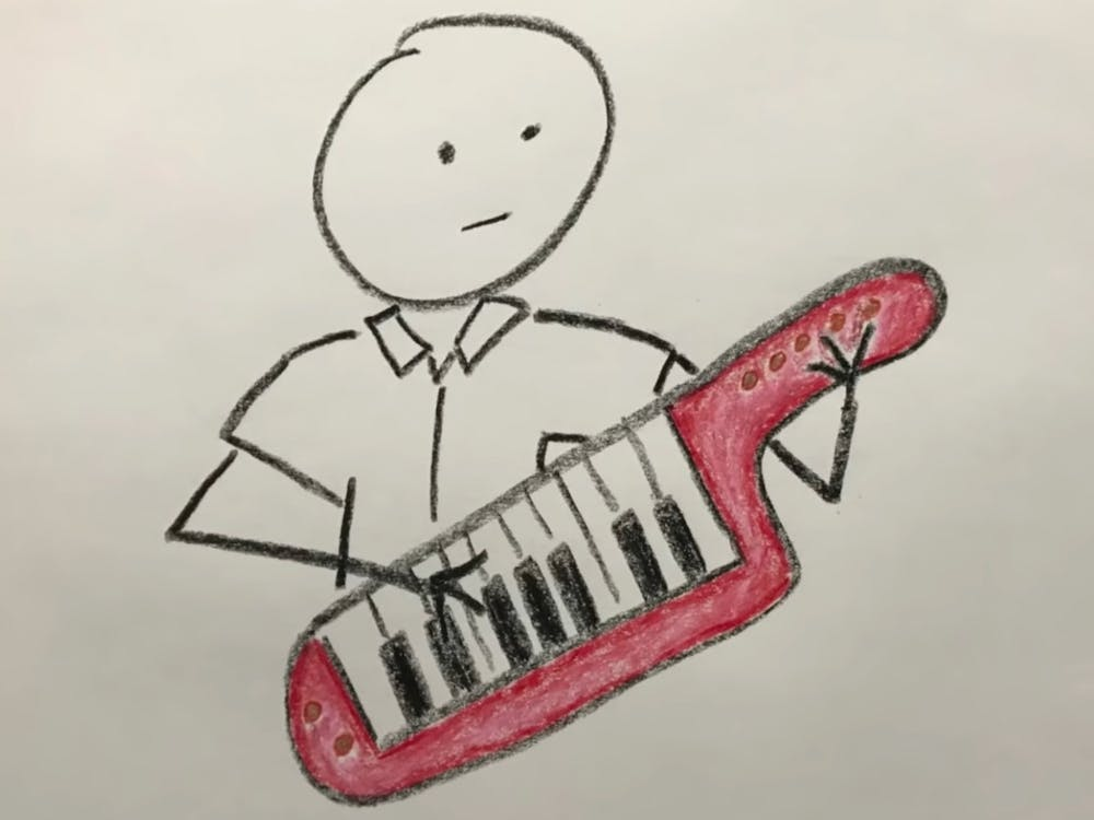 "<p>A drawing of a red keytar drew first-year Sam Carpenter to a Chronicle newsstand on Oct. 12. His Reddit post about the song ""Library Takeout,"" the subject of a Chronicle story that day, caused the song to explode online.</p>"
