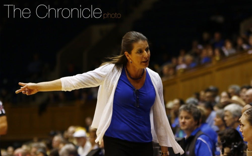 <p>Head coach Joanne McCallie's team missed the NCAA&nbsp;tournament for the first time since 1994.</p>