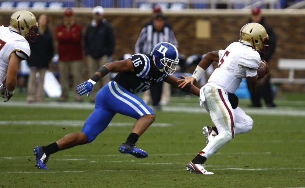 <p>Redshirt senior Jeremy Cash became the first Duke player ever to win ACC Defensive Player of the Year honors Wednesday.</p>