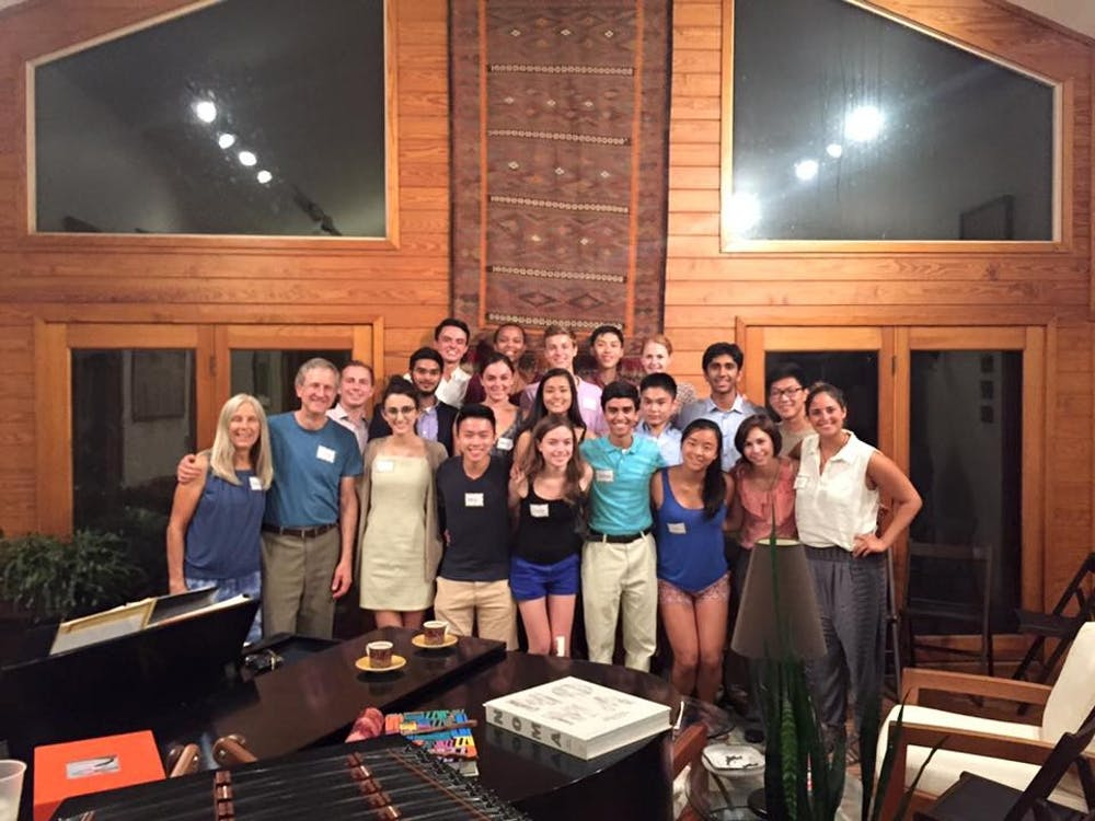 <p>Steve Nowicki, dean and vice provost for undergraduate studies, hosted 20 students at his home last week in the first Duke Conversations event ever.</p>