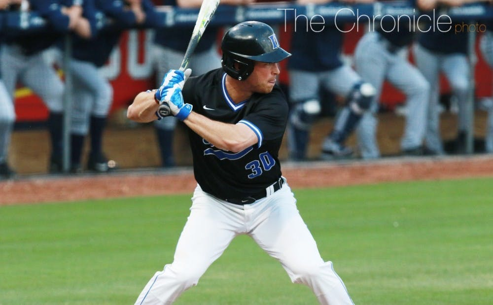 <p>Jimmy Herron hit 7-of-14 to lead Duke's lineup in the three games against the Tar Heels.</p>
