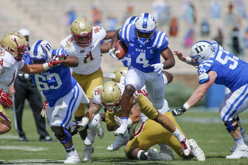 Despite Deon Jackson racking up 75 yards on the ground, the Duke offense struggled to finish drives on Saturday.