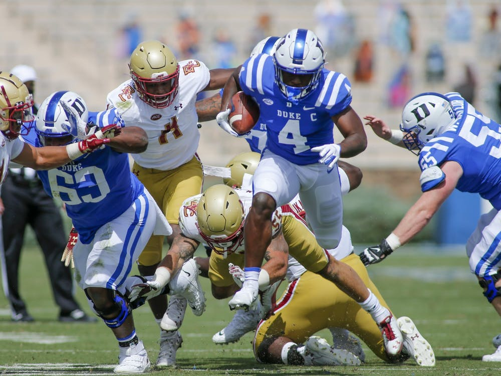 Despite Deon Jackson racking up 75 yards on the ground, the Duke offense struggled to finish drives on Saturday.