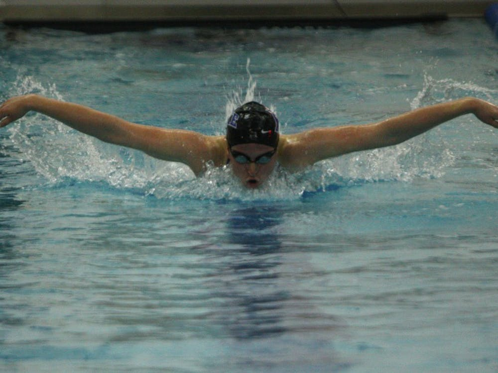 Duke knocked off William & Mary in its first home meet of the season.