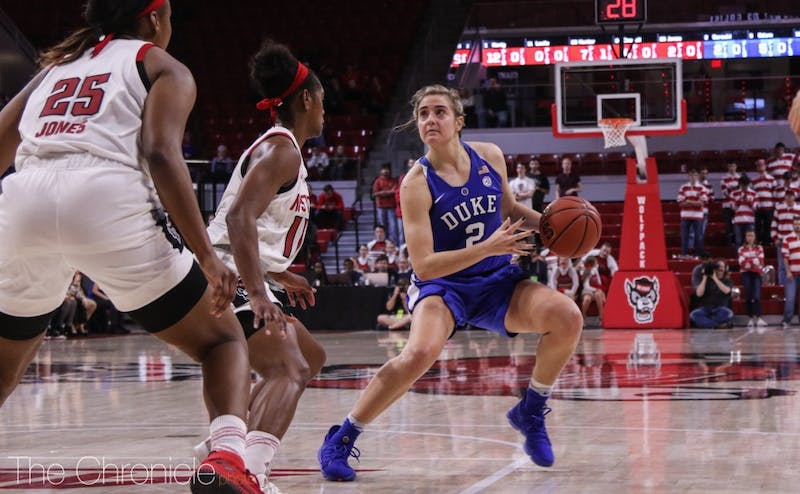 Haley Gorecki scored 15 points for Duke Sunday, but it was not enough.