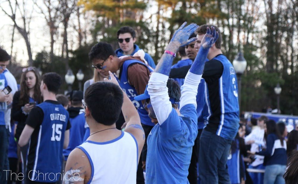 <p>Undergraduates usually turn Krzyzewskiville into a party as they wait to get into major games, like the UNC game last year.&nbsp;</p>