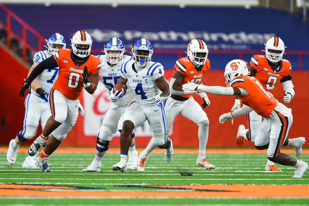 <p>Deon Jackson ran for 169 yards Saturday, and that was less than half of Duke's rushing total.</p>