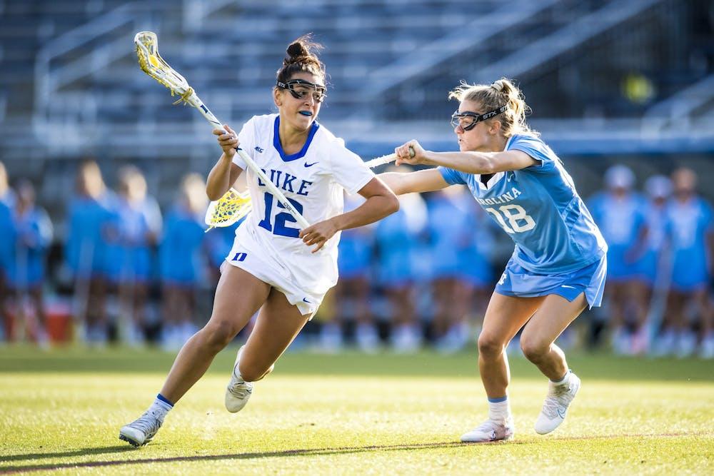 Sophomore Olivia Carner tallied four goals against North Carolina.