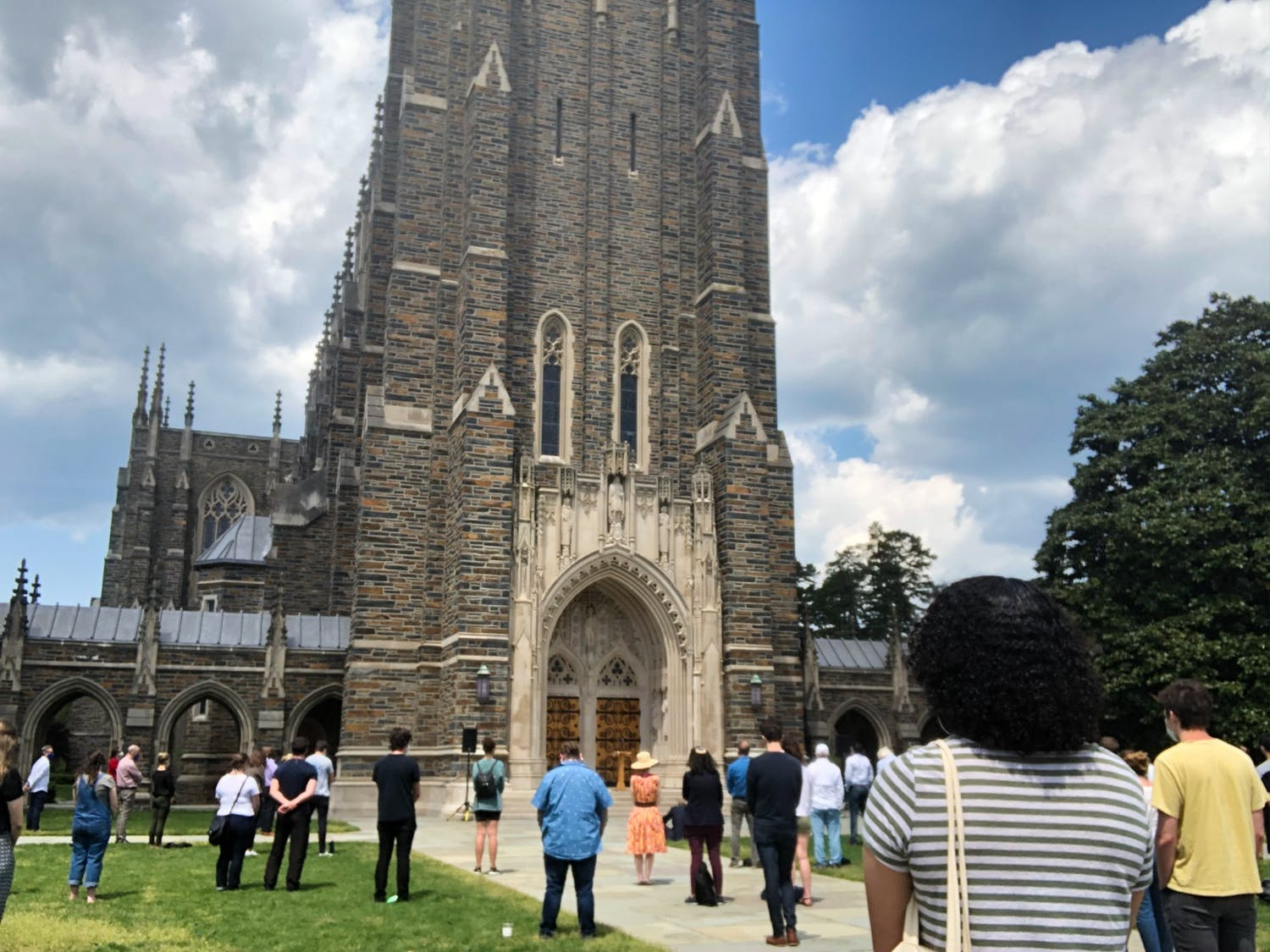 Administrators and the chair of the African & African American studies department reflected on the outcome of Derek Chauvin's trial on Wednesday, while students and other community members gathered on the quad in front of the Chapel to watch.