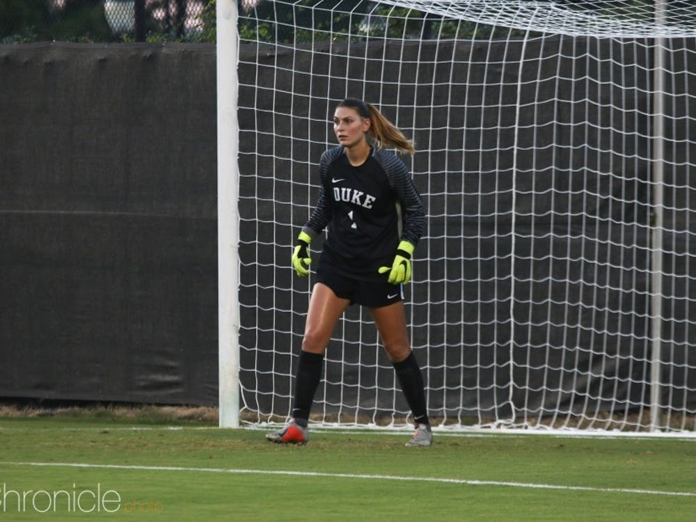 Brooke Heinsohn has been dominant in goal for the Blue Devils, who are just one tie away from setting the school record