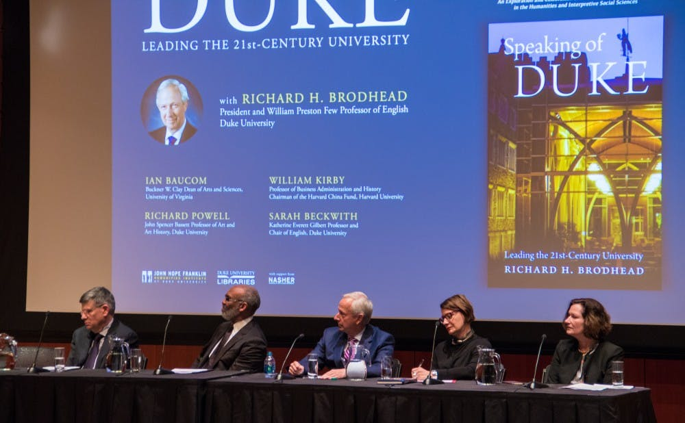 <p>Brodhead's colleagues noted that his book highlights his vision for the University and his dedication to the humanities.&nbsp;</p>