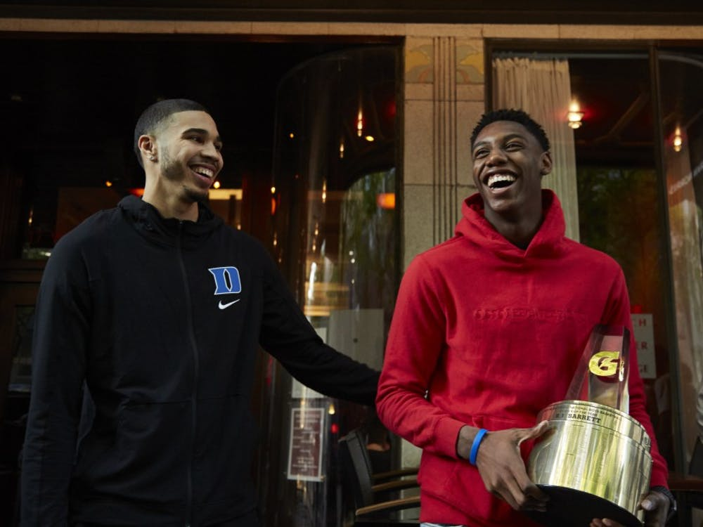 Tatum hopes to pick up some hardware of his own when it is all said and done.