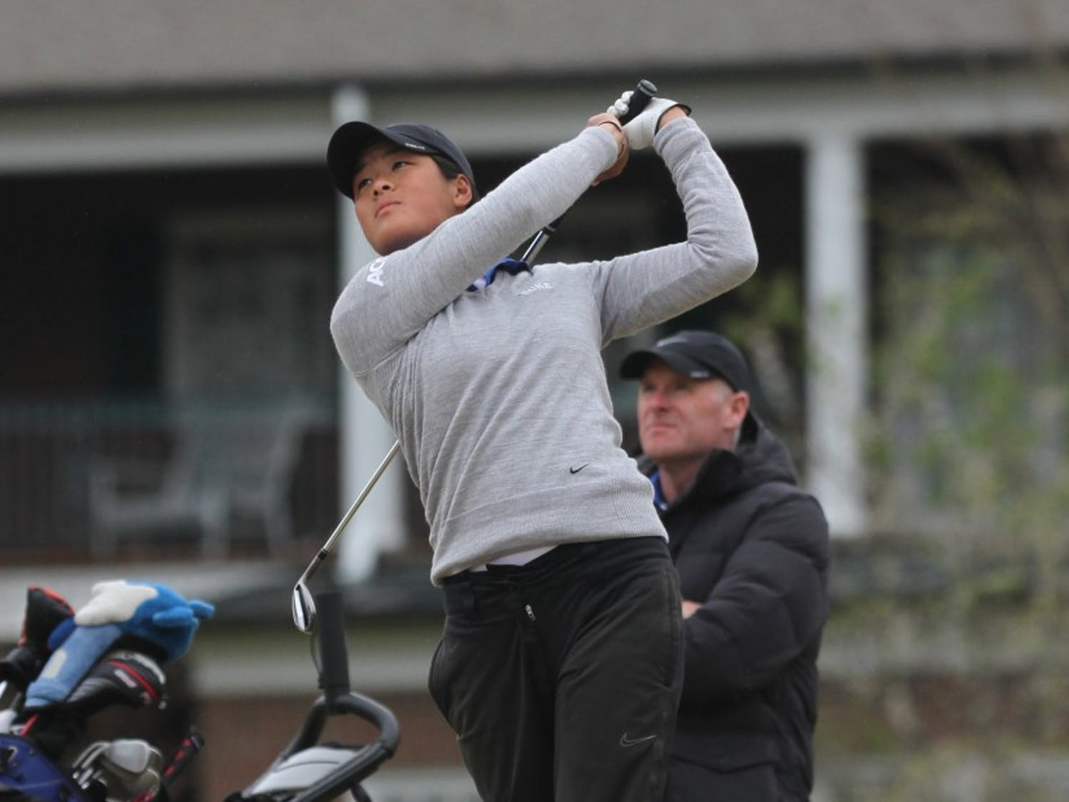 Sophomore Celine Boutier saw her three-tournament winning streak come to an end, but the Blue Devils still qualified for the NCAA Championship May 20-23 in Tulsa, Okla.