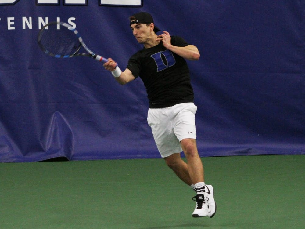 Junior T.J. Pura will captain a young Duke squad this season, looking to lead the Blue Devils to the ITA Indoor Championship tournament next month with a win Sunday.