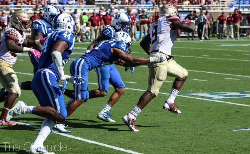 6-foot-3 running back Jacques Patrick broke several tackles on his way to a 98-yard performance on the ground.