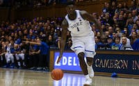 Zion Williamson led the White team to victory Friday.