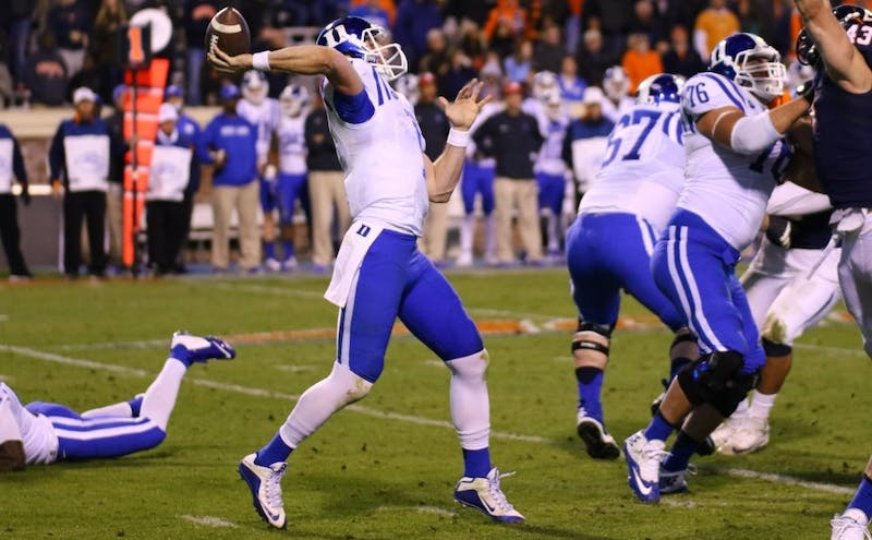 Thomas Sirk led the Blue Devils to an 8-5 campaign in 2015 but missed last year due to two Achilles injuries.