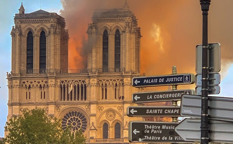 The famous Notre Dame Cathedral in Paris burned April 15, resulting in its roof collapsing, though the cause of the fire is still unknown.
