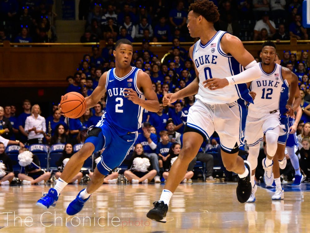 <p>Cassius Stanley and Wendell Moore are part of a freshman class trying to push the Blue Devils over the edge to a Final Four this season.</p>