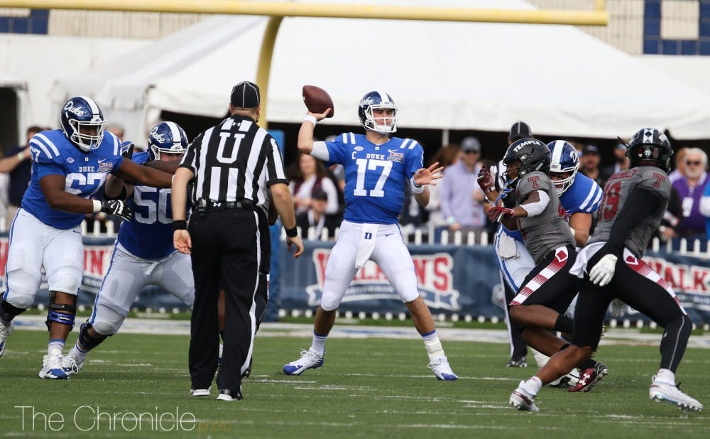 <p>Daniel Jones' Independence Bowl performance was arguably the best of his three-year career.</p>