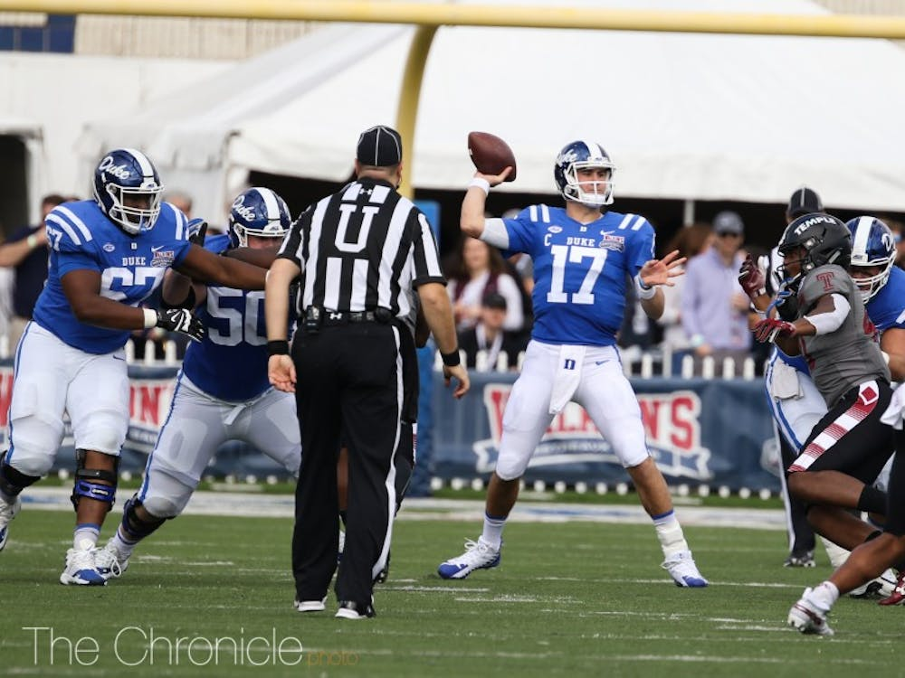 Daniel Jones' Independence Bowl performance was arguably the best of his three-year career.