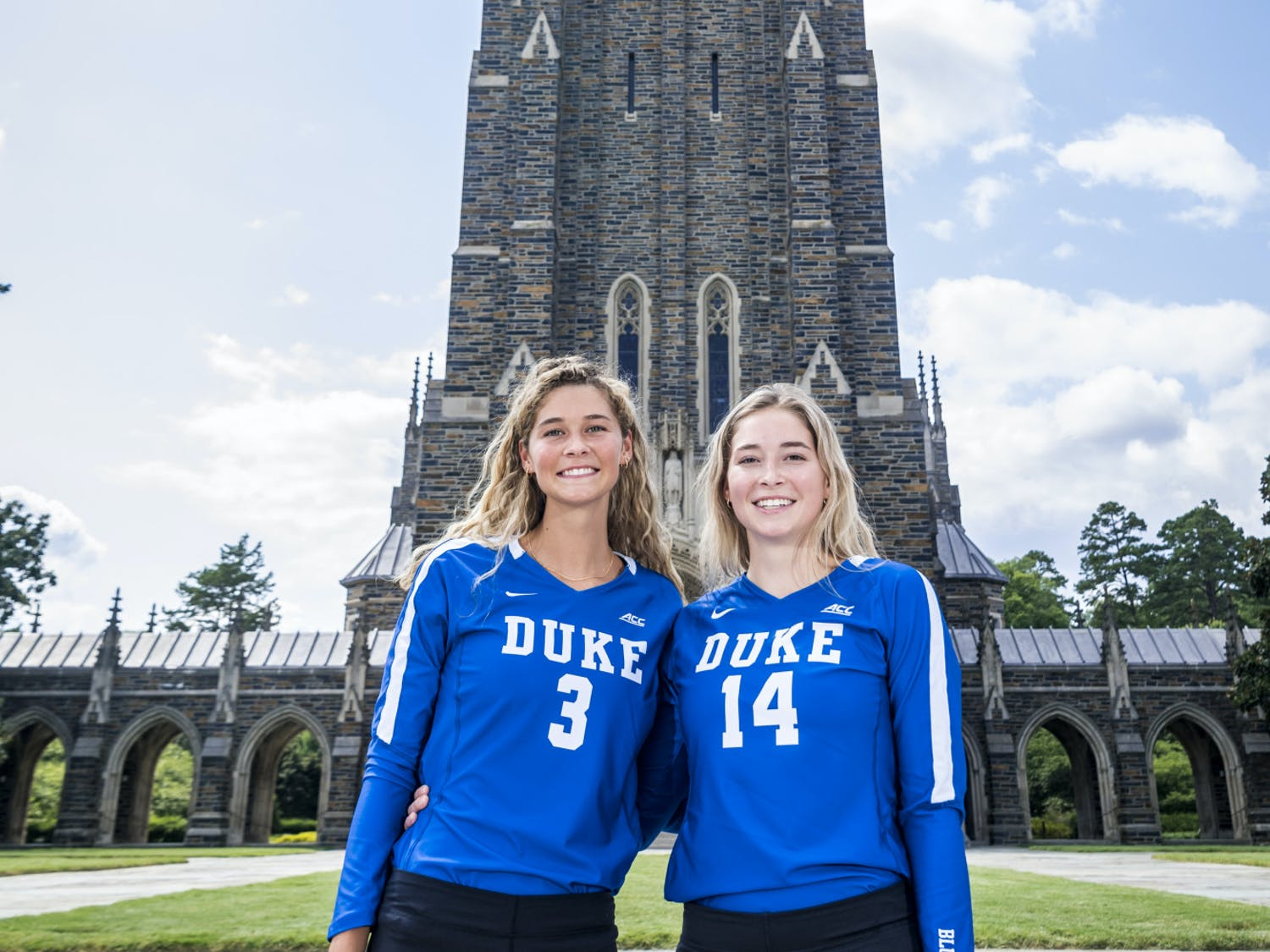 Mackenzie (left) and Taylor (right) Cole were reunited this past offseason after Taylor transferred to Duke.