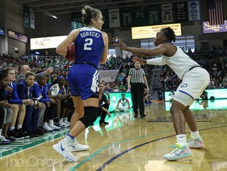 Haley Gorecki and the Blue Devils struggled against FGCU.