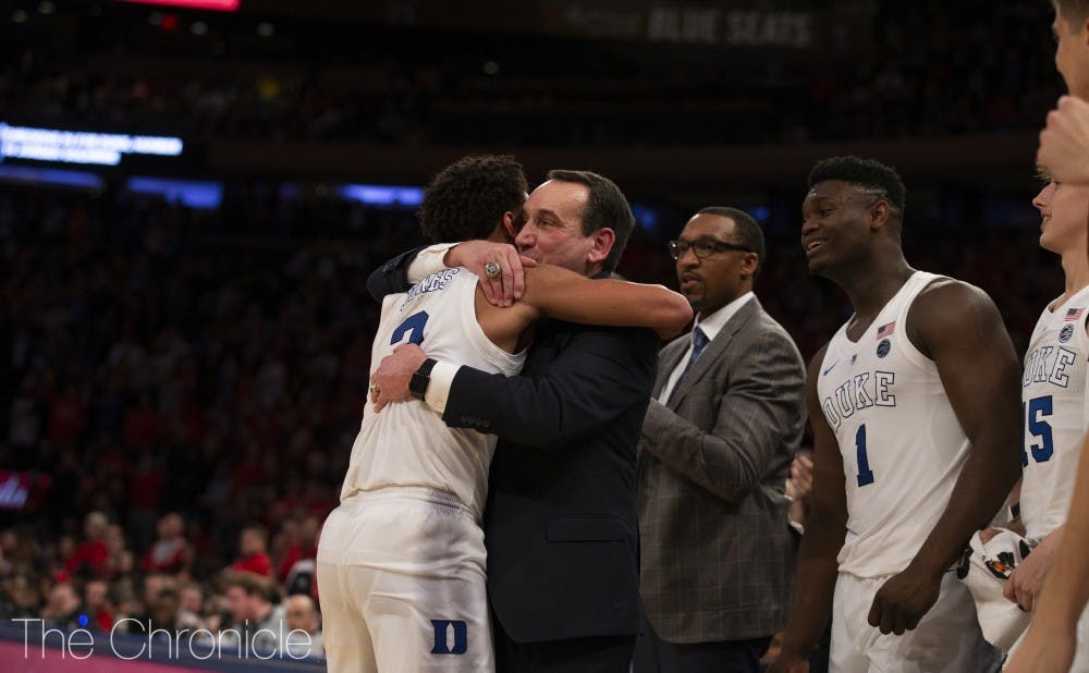 <p>With Tre Jones' return, head coach Mike Krzyzewski can focus on building around the talented point guard for next season</p>