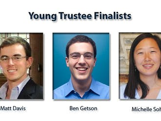 Matthew Davis, Ben Getson and Michelle Sohn were chosen as the finalists for Young Trustee Saturday.