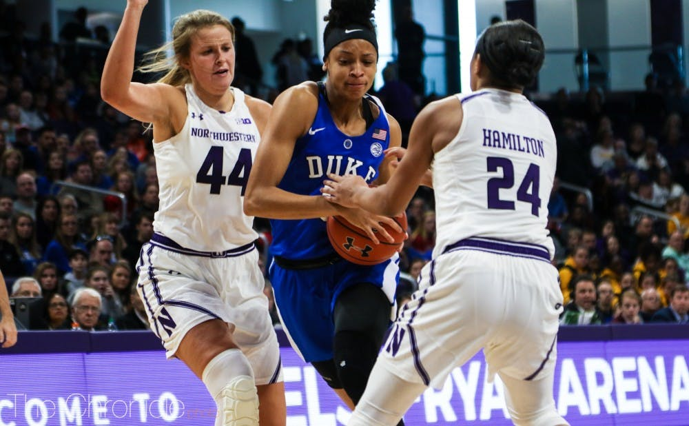<p>Leaonna Odom was one of just three Blue Devils to put the ball in the basket Sunday.</p>
