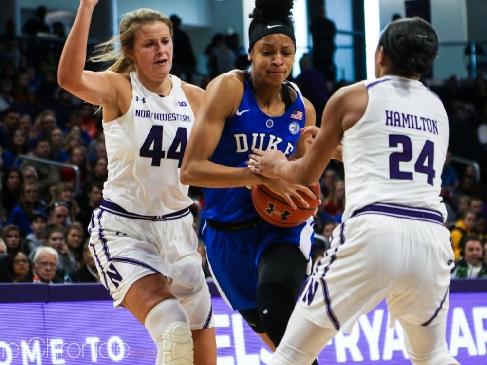 Leaonna Odom was one of just three Blue Devils to put the ball in the basket Sunday.