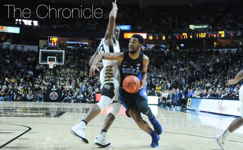 <p>Senior Matt Jones' offense has taken a hit this season with a heavy workload on the other end of the court.&nbsp;</p>