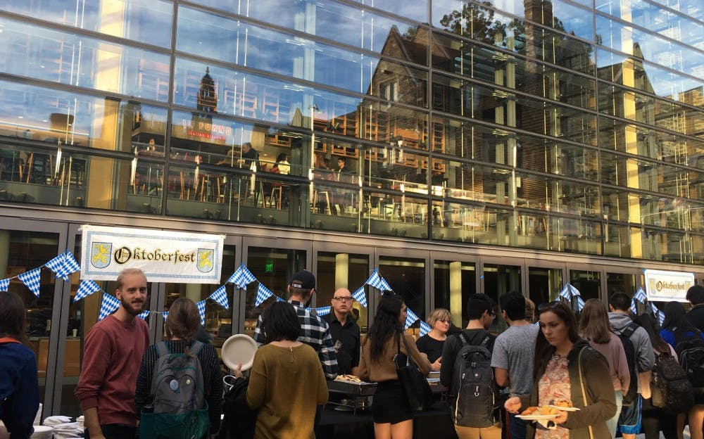 <p>The patio outside ABP turned into a Bavarian Volksfest for two hours on Friday.&nbsp;</p>
