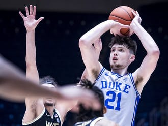 Matthew Hurt notched a career-high 26 points in Duke's first matchup with Wake Forest Jan. 9.